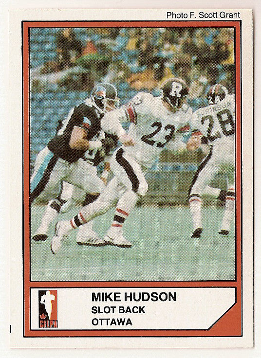 Mike Hudson CFL card 1984 Jogo #26 Ottawa Rough Riders  Guelph Gryphons