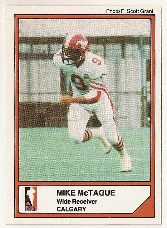 Mike McTague CFL card 1984 Jogo #97 Calgary Stampeders  North Dakota State Bison