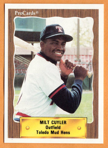 Milt Cuyler 1990 Toledo Mud Hens Minor League Baseball  Southwest Magnet Patriots  |  Detroit Tigers Boston Red Sox Texas Rangers
