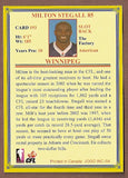Milt Stegall CFL card 2004 Jogo #193 Winnipeg Blue Bombers  Miami RedHawks  Hall of Fame