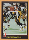 Mitchell Price CFL card 1986 Jogo #114 Hamilton Tiger-Cats  Livingston West Alabama Tigers