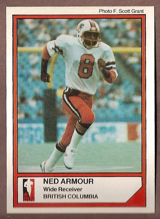 Ned Armour CFL card 1984 Jogo #134 BC Lions  San Diego State Aztecs