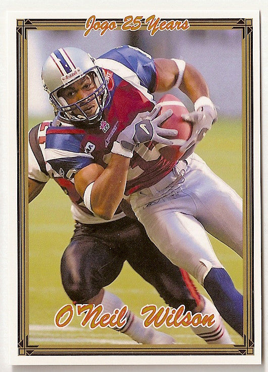 O'Neil Wilson CFL card 2005 Jogo #12 Montreal Alouettes  Connecticut UConn Huskies