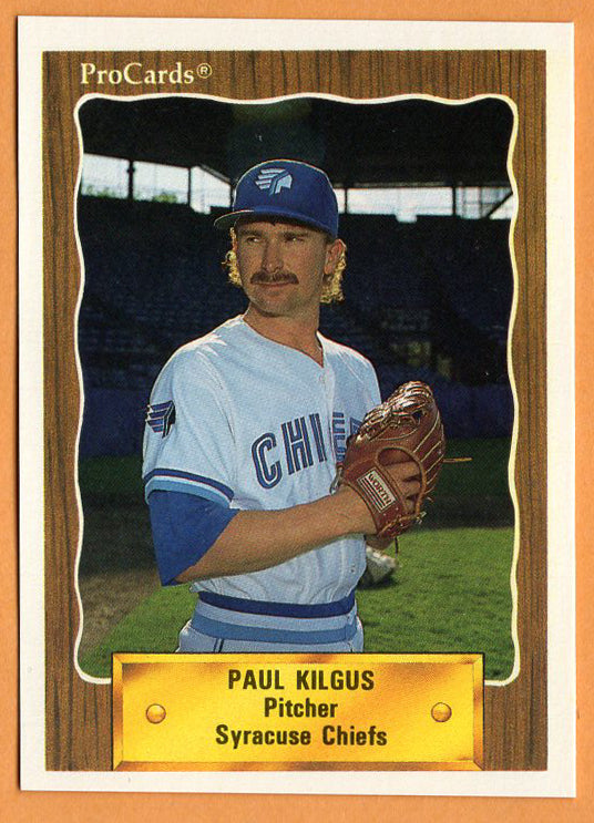Paul Kilgus 1990 Syracuse Chiefs Minor League Baseball Kentucky Wildcats Bowling Green Purples Texas Rangers Chicago Cubs Toronto Blue Jays