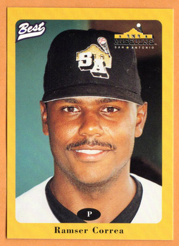 Ramser Correa 1996 San Antonio Missions Minor League Baseball  Carolina, Puerto Rico