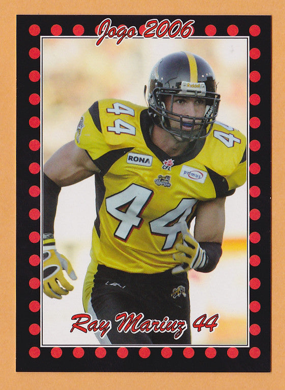 Ray Mariuz CFL card 2006 Jogo #158 Hamilton Tiger-Cats  McMaster Marauders