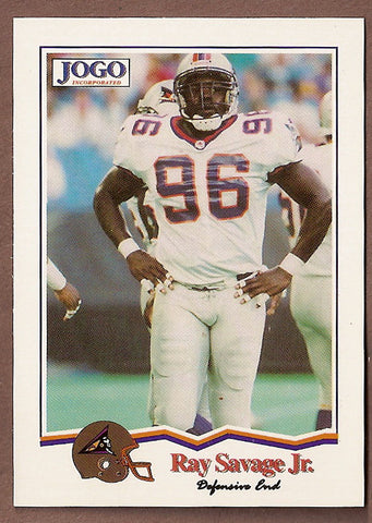 Ray Savage CFL card 1994 Jogo #123 Shreveport Pirates  Virginia Cavaliers