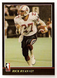 Rick Ryan CFL card 1986 Jogo #49 Montreal Concordes  Weber State Wildcats