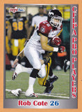 Rob Cote CFL card 2012 Jogo Pro Player #172 Calgary Stampeders  Victoria Rebels