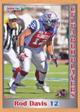 Rod Davis CFL card 2012 Jogo Pro Player #153 Montreal Alouettes  Southern Miss Golden Eagles