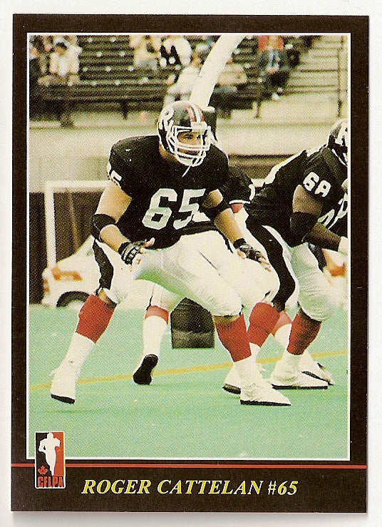 Roger Cattelan CFL card 1986 Jogo #22 Ottawa Rough Riders  Boston College Eagles
