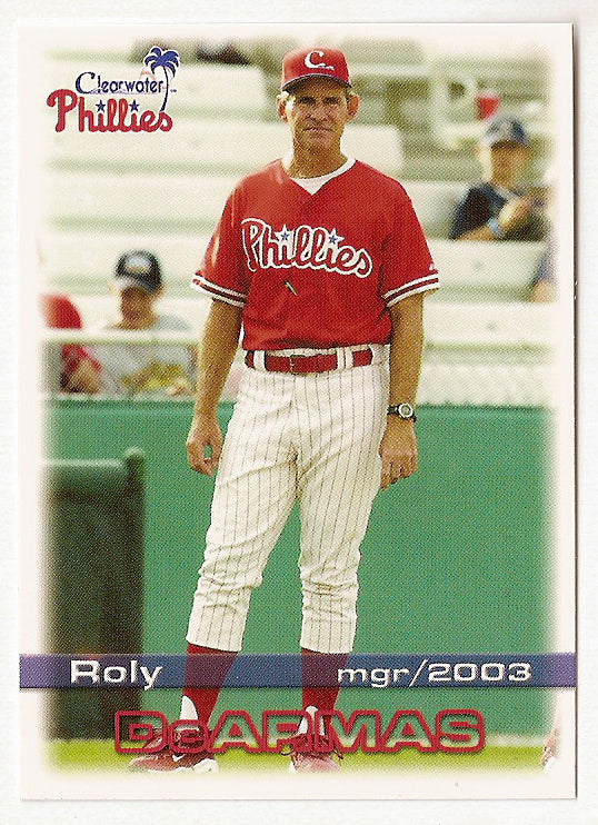 Roly de Armas 2003 Clearwater Phillies Minor League Baseball  Aibonito, Puerto Rico