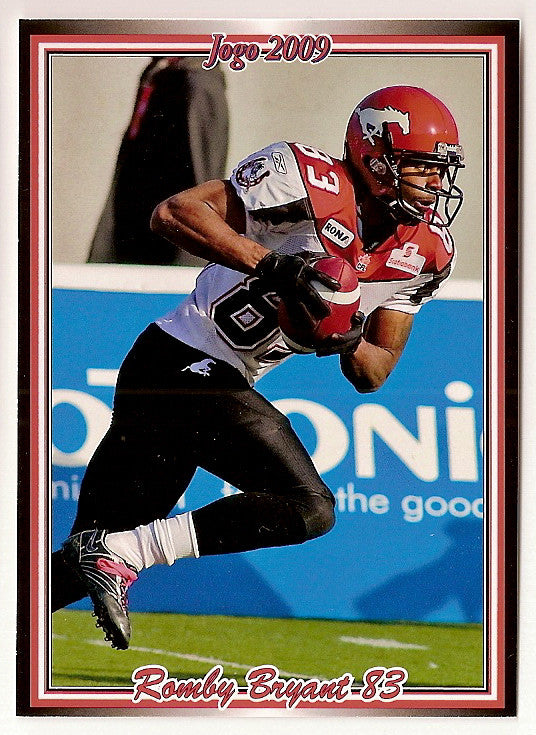 Romby Bryant CFL card 2009 Jogo #146 Calgary Stampeders  Tulsa Golden Hurricanes
