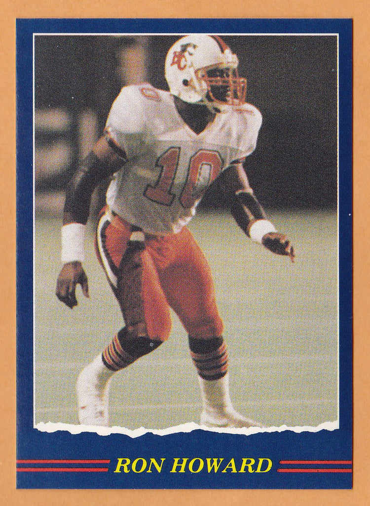 wholesale dealer 20a6e c1bcb Ron Howard CFL card 1989 Jogo #89 BC Lions Tennessee State Tigers