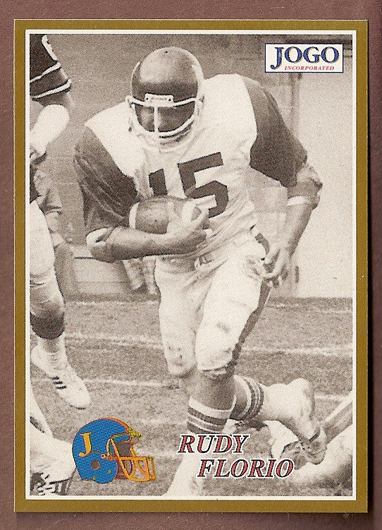 Rudy Florio CFL card 1995 Jogo Missing Years #14D Montreal Alouettes  Youngstown State Penguins