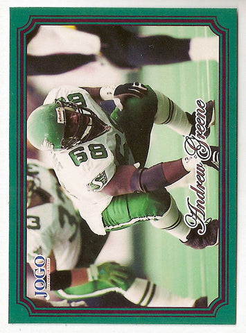 Andrew Greene CFL card 2002 Jogo #203 Saskatchewan Roughriders  Indiana Hoosiers