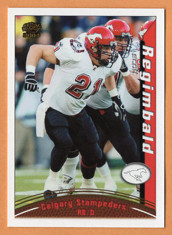 Scott Regimbald 2004 Pacific CFL card #22 Calgary Stampeders  Houston Cougars