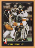 Scott Virkus CFL card 1986 Jogo #117 Saskatchewan Roughriders  Purdue Boilermakers