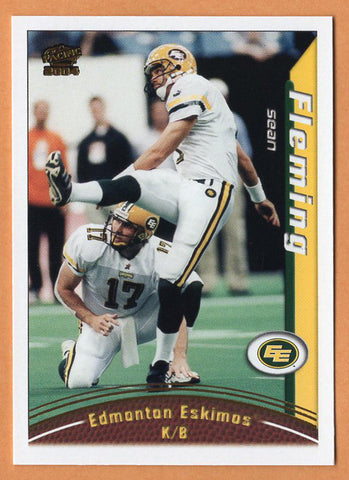 Sean Fleming 2004 Pacific CFL card #27 Edmonton Eskimos  Wyoming Cowboys