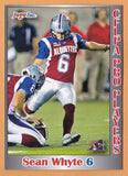 Sean Whyte CFL card 2012 Jogo Pro Player #149 Montreal Alouettes  Santa Monica Corsairs