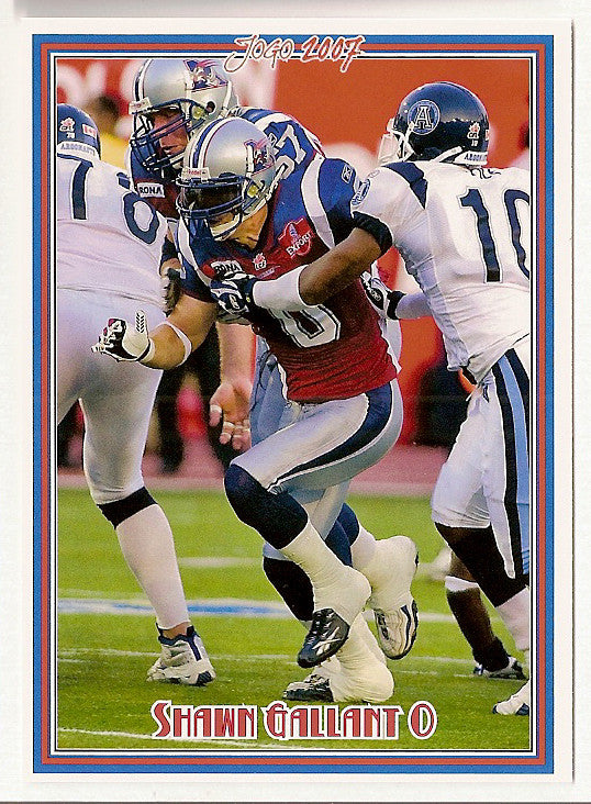 Shawn Gallant CFL card 2007 Jogo #9 Montreal Alouettes  Eastern Kentucky Colonels