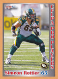 Simeon Rottier CFL card 2012 Jogo Pro Player #74 Edmonton Eskimos  Alberta Golden Bears