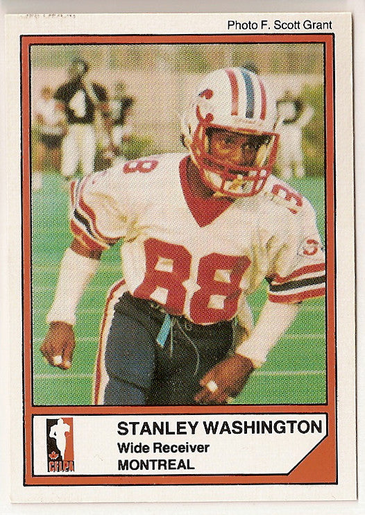 Stanley Washington CFL card 1984 Jogo #60 Montreal Concordes  Texas Christian TCU Horned Frogs
