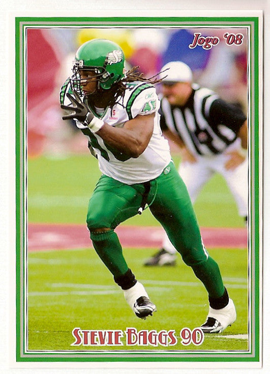 Stevie Baggs CFL card 2008 Jogo #104 Saskatchewan Roughriders  Bethune Cookman Wildcats