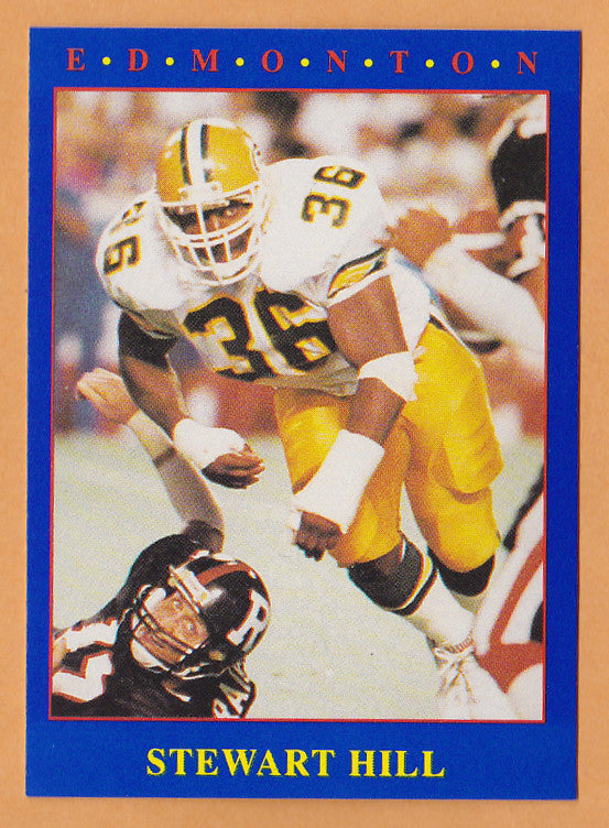 Stewart Hill CFL card 1990 Jogo #149 Edmonton Eskimos  Washington Huskies