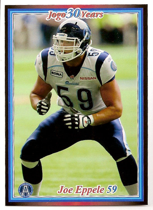 Joe Eppele CFL card 2010 Jogo #57 Toronto Argonauts  Washington State Cougars