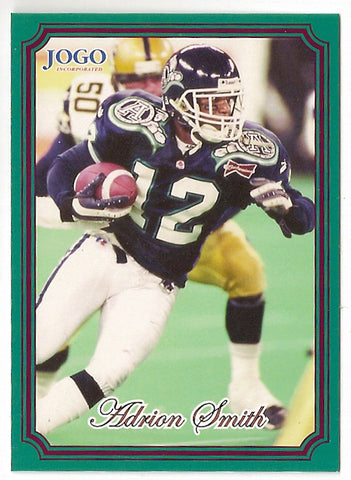 Adrion Smith CFL card 2002 Jogo #89 Toronto Argonauts  Southwest Missouri State Bears