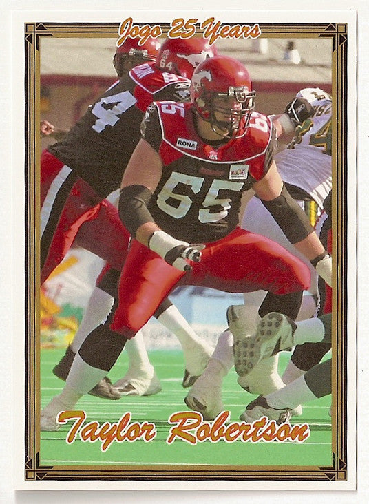 Taylor Robertson CFL card 2005 Jogo #81 Calgary Stampeders  Central Florida Knights