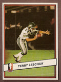 Terry Leschuk CFL card 1985 Jogo #78 Saskatchewan Roughriders  Calgary Cougars