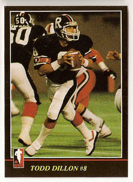 Todd Dillon CFL card 1986 Jogo #19 Ottawa Rough Riders  Long Beach State 49ers