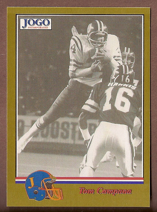 Tom Campana CFL card 1994 Jogo Missing Years #10C Saskatchewan Roughriders  Ohio State Buckeyes