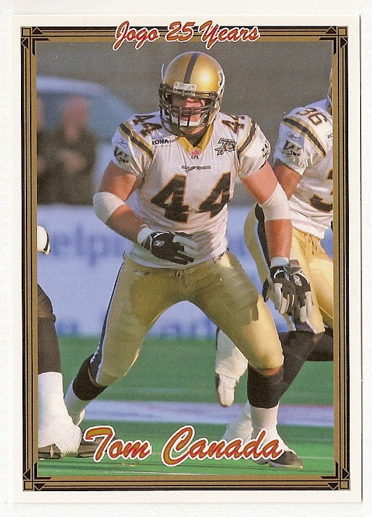 Tom Canada CFL card 2005 Jogo #167 Winnipeg Blue Bombers  California Golden Bears