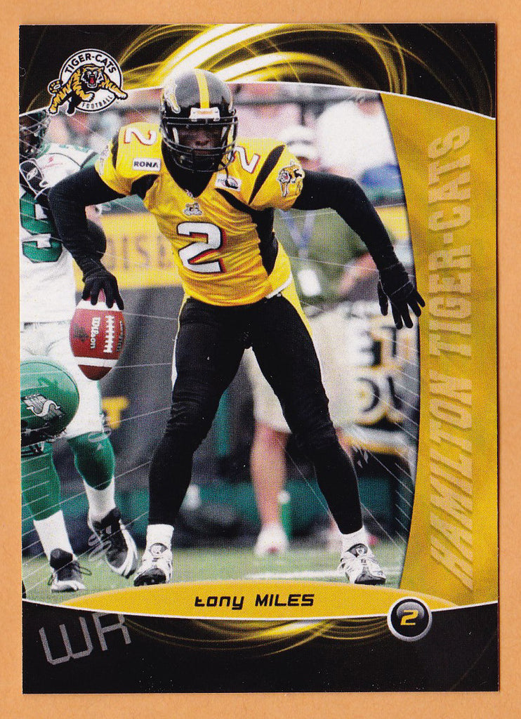 Tony Miles CFL card 2008 Extreme #47 Hamilton Tiger-Cats  Northwest Missouri State Bearcats