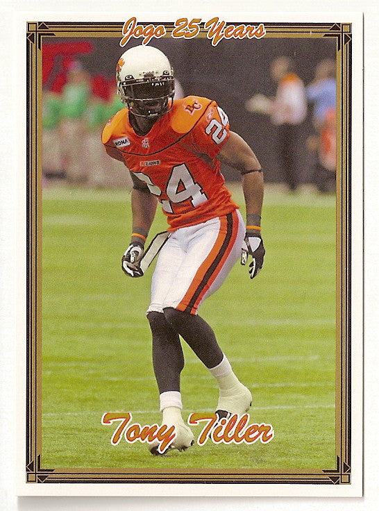 Tony Tiller CFL card 2005 Jogo #99 BC Lions  East Tennessee State Buccaneers