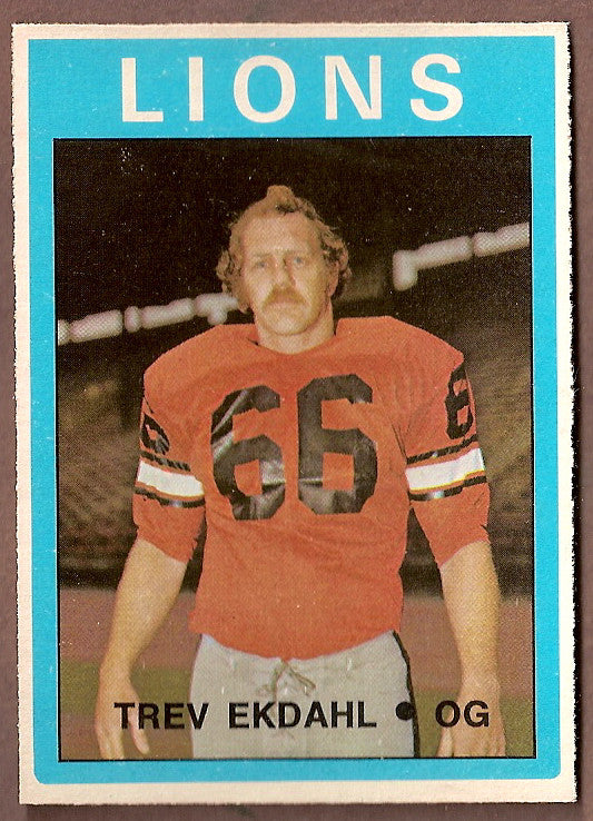 George Anderson CFL card 1972 O-Pee-Chee #44 BC Lions  Simon Fraser Clansmen