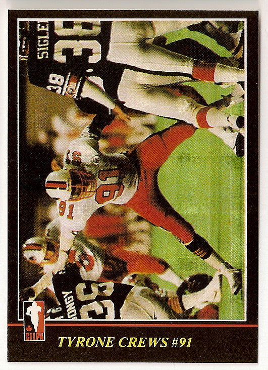 Tyrone Crews CFL card 1986 Jogo #55 BC Lions  Kansas State Wildcats
