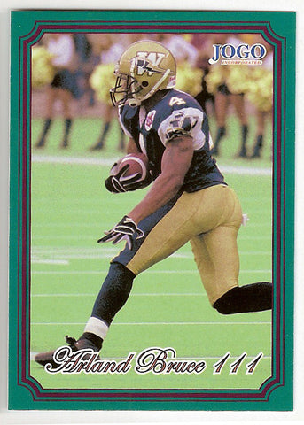 Arland Bruce CFL card 2002 Jogo #127 Winnipeg Blue Bombers  Minnesota Golden Gophers