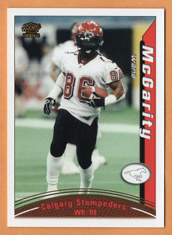 Wane McGarity 2004 Pacific CFL card #21 Calgary Stampeders  Texas Longhorns