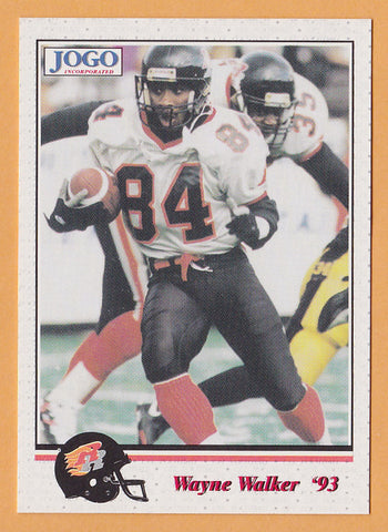 Wayne Walker CFL card 1993 Jogo #14 Ottawa Rough Riders  Texas Tech Red Raiders