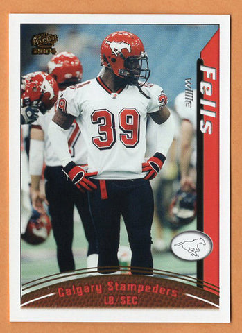 Willie Fells 2004 Pacific CFL card #18 Calgary Stampeders  Purdue Boilermakers