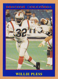 Willie Pless CFL card 1990 Jogo #191 BC Lions  Kansas Jayhawks  Hall of Fame