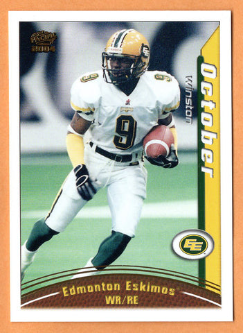 Winston October 2004 Pacific CFL card #33 Edmonton Eskimos  Richmond Spiders
