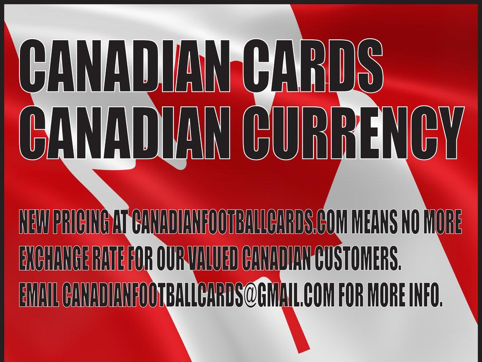 CFL cards from Upper Deck, Jogo, Pacific and Extreme