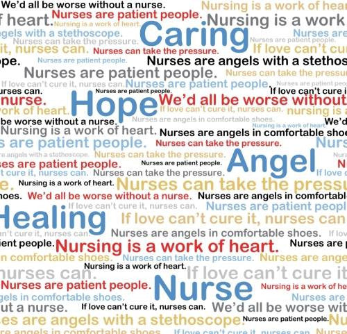 Calling All Nurses Inspirational Words White