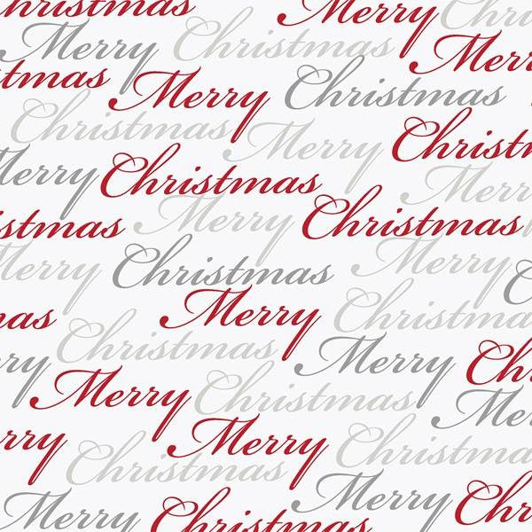 Merry Christmas Words White
