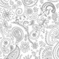 Color Me Fabric - Paisley Scatter Cotton